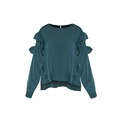Autumn New Women s Long sleeved T Pullover Girl s Blouse Atmosphere Retro Style Loose Bat
