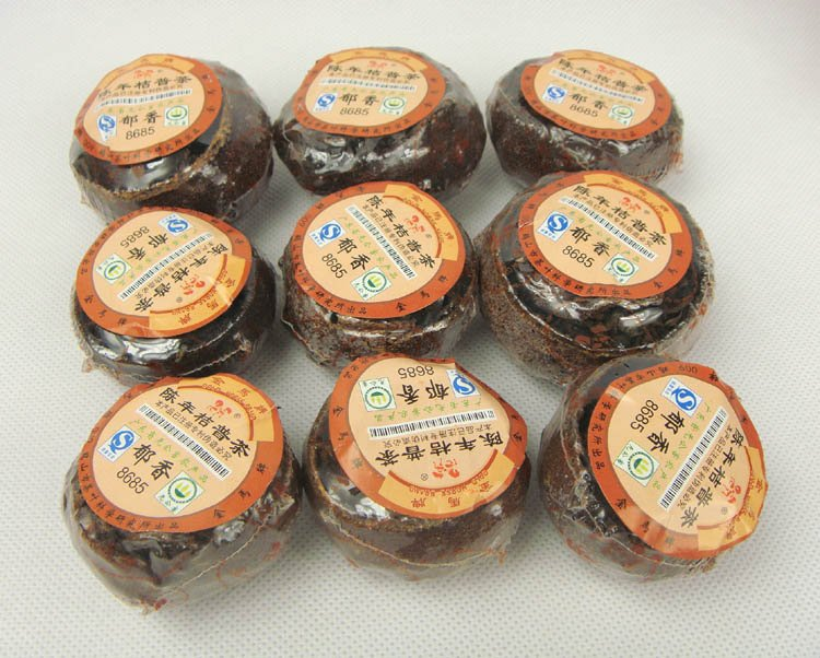 9pcs Orange Puerh Tea 2005 year Old Tree Puer with Orange Fragrance Good gift A3PT58 Free