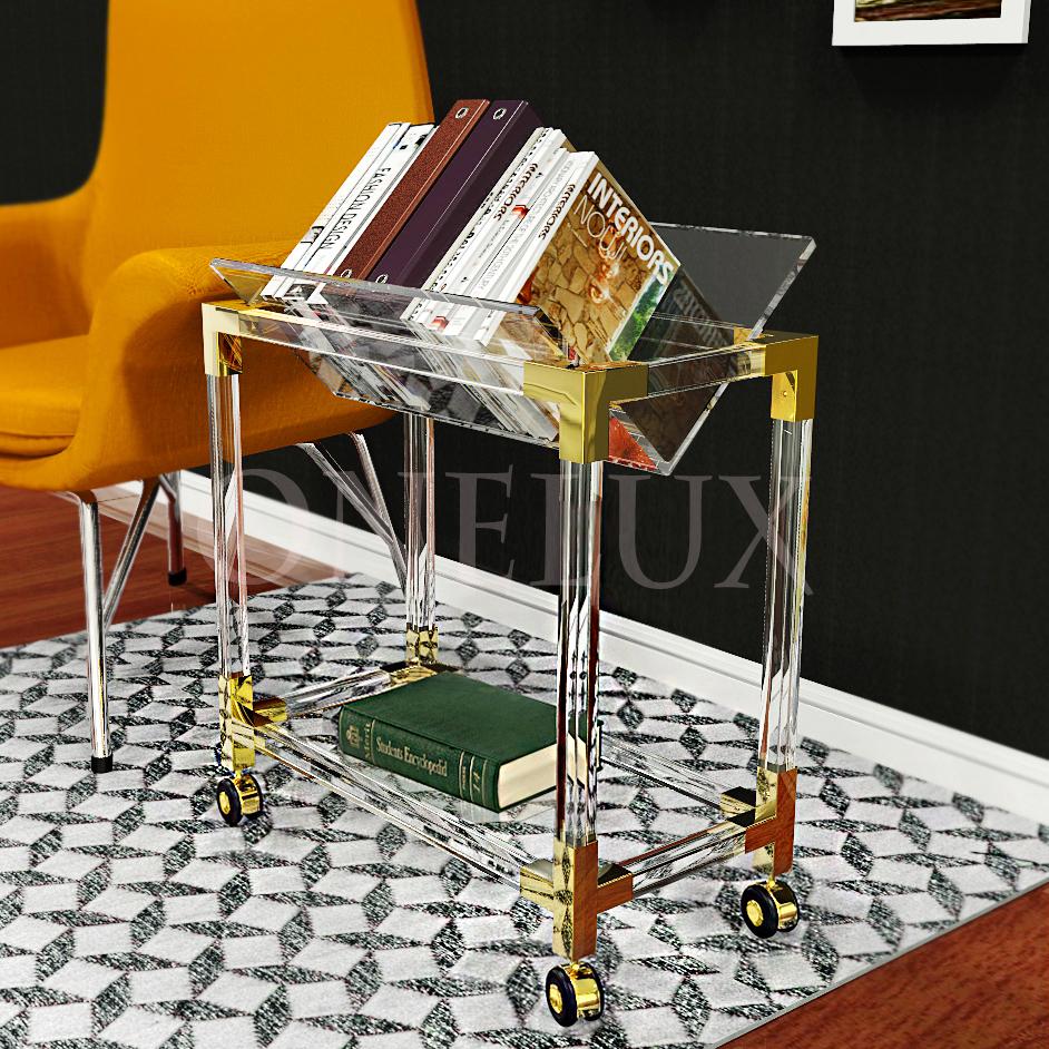 Magazin beistelltisch werbeaktion shop f r werbeaktion for Plexiglas tisch design
