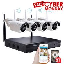 ZOSI 4CH Wireless NVR CCTV System 960P IP Camera WIFI Waterproof IR Night Vison Home Security Camera Surveillance Kit 2TB HDD(China (Mainland))