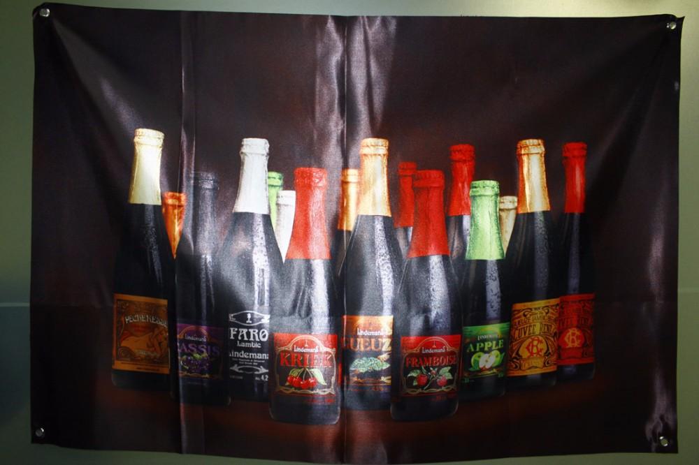 Lindemans series beer FARO KRIEK GUEUZE sign silk flag poster advertising banner 96*67cm(China (Mainland))