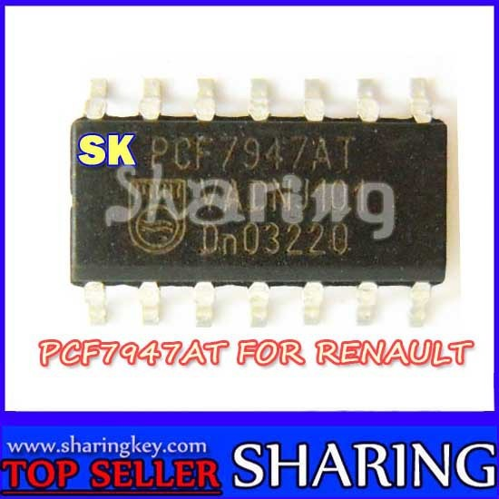 Free shipping (10pcs/lot)Original Brand New Renault  Pcf7947  Transponder Chip For renualt car key offer best price