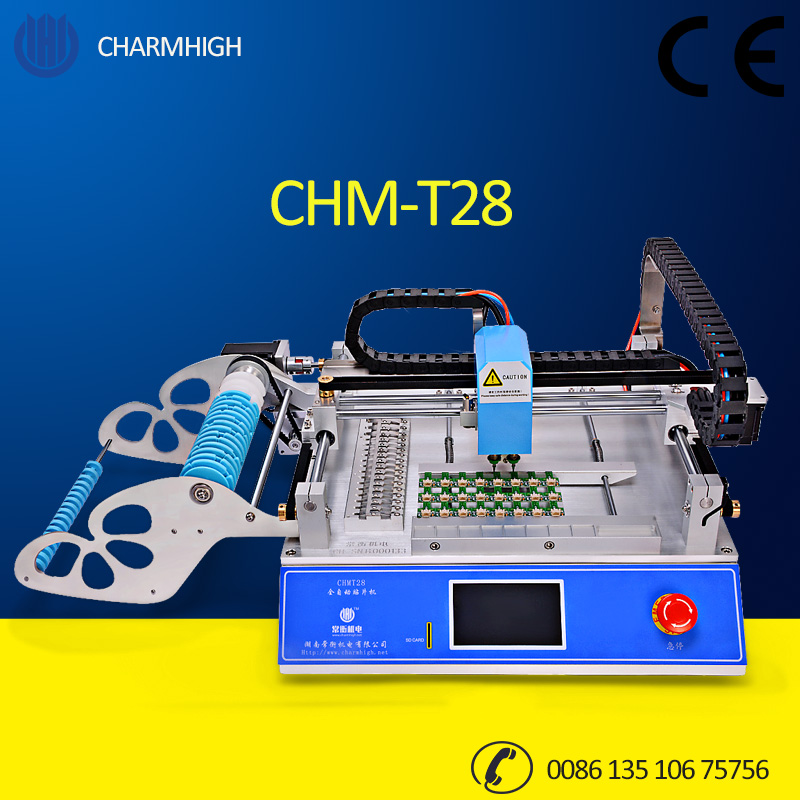 Discount CHMT28 Small Desktop Pick and Place Machine SMT Prototyping pick place Charmhigh 110v 220v(China (Mainland))