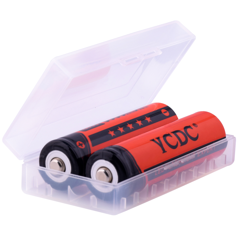 YCDC Low Price 4PCS-20PCS Rechargeable 18650 Batteries 3.7V 3000 mAh Lithium li-ion Battery for LED Flashlight Red Color(China (Mainland))