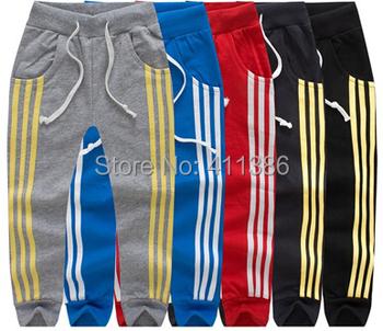 Skz-304 бесплатная доставка 2014 ребенок квадратные печатных длинные брюки мальчик девочка хлопка спортивные брюки детей Высокое качество осень одежды розничная