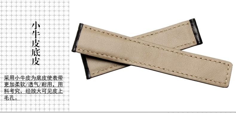 Ремешок из кожи аллигатора адаптер тег карты лайла наследование 6 19 20 | 22 мм группа