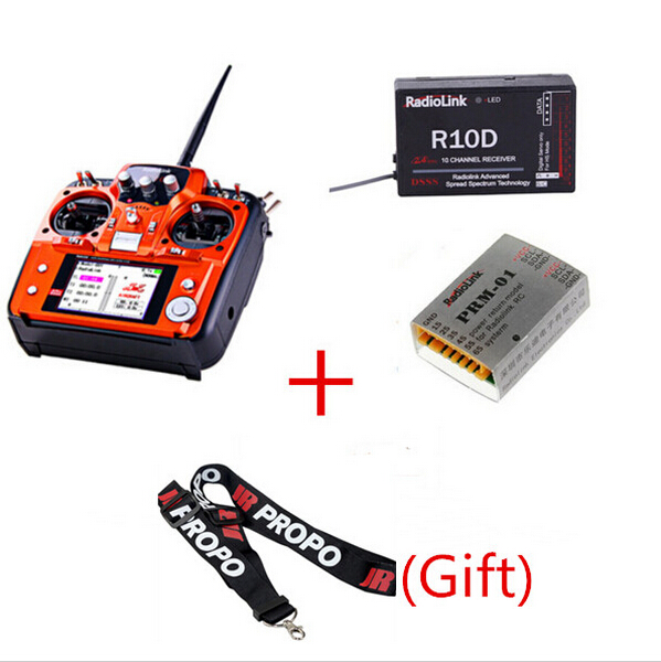 RadioLink AT10 2.4Ghz 10CH RC Transmitter with R10D Receiver PRM-01 Voltage Return Module for RC Airplane Helicopter Quadcopter(China (Mainland))
