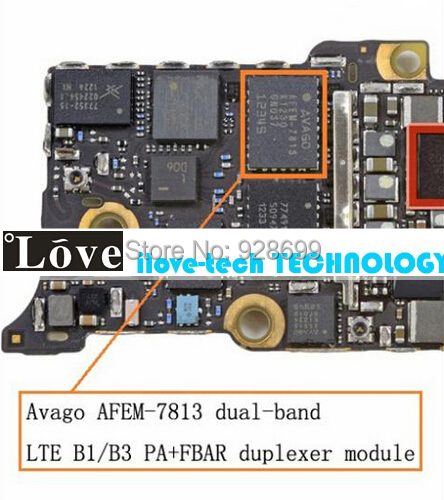 Original New dual-band LTE B1/B3 PA+FBAR duplexer module AFEM 7813 Power Amplifier IC Chip iPhone 5 - ilove-tech TECHNOLOGY CO., LTD store