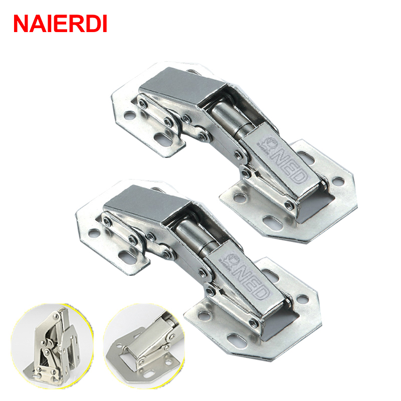 NAIERDI-A99 90 Degree 3 Inch No-Drilling Hole Cabinet Hinge Bridge Shaped Spring Frog Hinge Full Overlay Cupboard Door Hinges(China (Mainland))