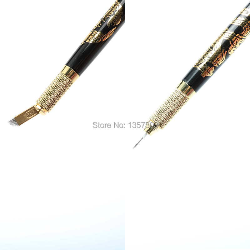 New Microblading Pen Tattoo Machine Permanent Makeup Eyebrow Tattoo Manual Pen with 2 pcs needle blade 5 styles to choose