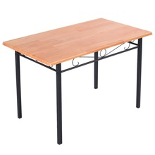 Steel Frame Dining Table Kitchen Modern Furniture Bistro  Wood New(China (Mainland))