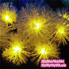 2016 Snowball Multicolor LED String Snow Flakes Lights Battery Party Xmas Wedding Birthday Party Decoration Lightings Casamento(China (Mainland))