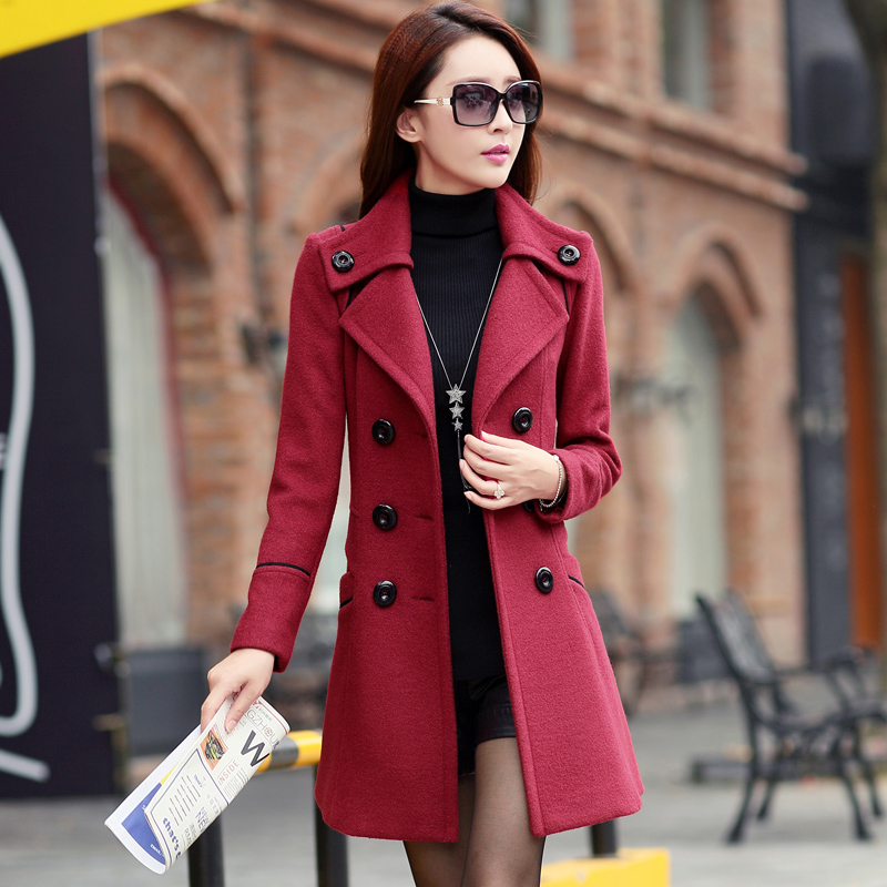 Women's red winter coats – Modern fashion jacket photo blog