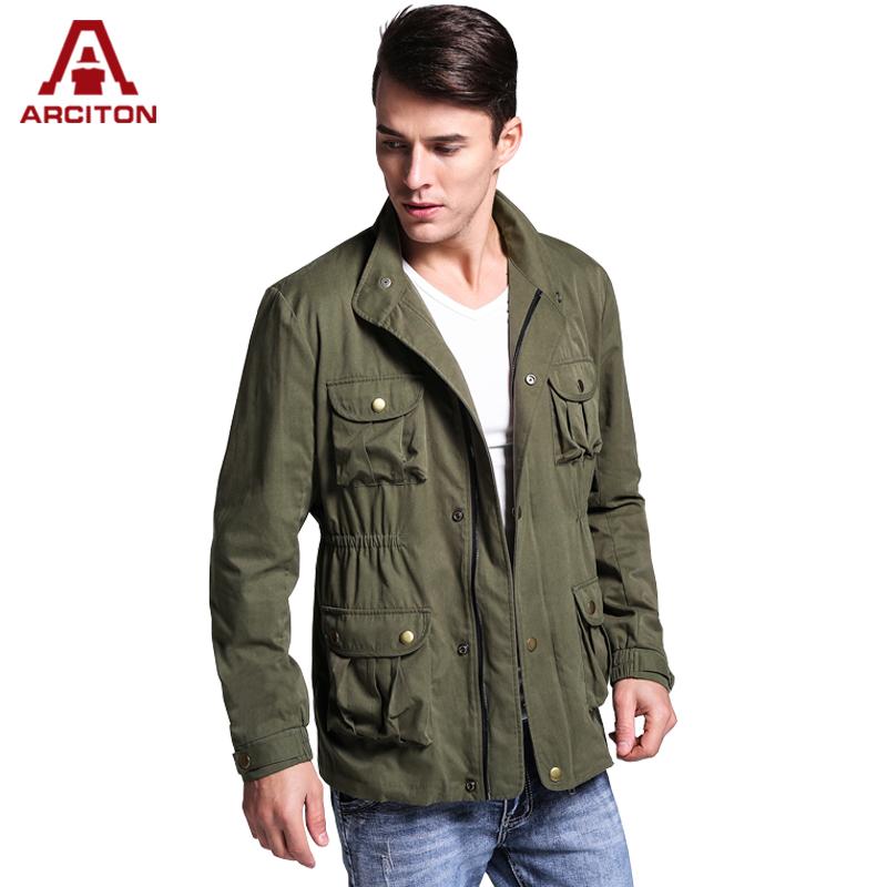 A ARCITON Fashion Design 4 Pockets Bomber Jackets Men Military Jacket Zipper Cotton Men Jacket Fall men's jacket Spring(N-826)(China (Mainland))