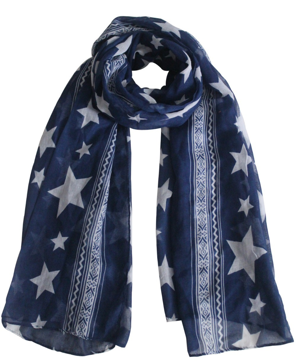 2015 New Fashionable Women Autumn Winter Star Print Scarfs Shawls Wrap For Ladies Gifts(China (Mainland))