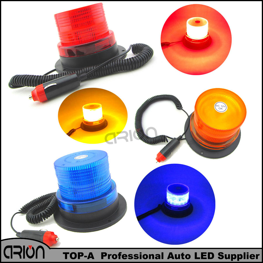 DC12V Magnetic Mounted Warning flash beacon safety Strobe Emergency light Police lights Red Blue Amber Yellow Colors - Arion Auto-Fashion Flagship Store store