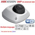 Free shipping DS 2CD2532F IWS Multi language 1080p two way audio DWDR IR Network mini POE