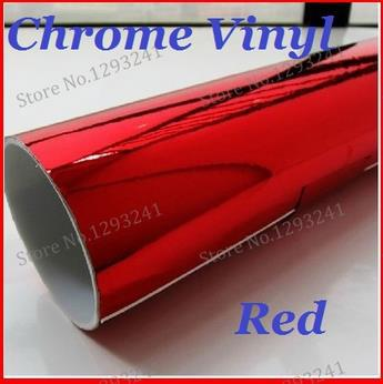 2015 new Wholesale Price High quality Red Mirror chrome Vehicle Wrap Vinyl car sticker 1.52m*30m free shipping(China (Mainland))