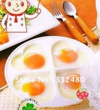 Heart-shaped Microwave Plastic Egg Boilers Cooker,Steamed Egg Dish,Free shipping