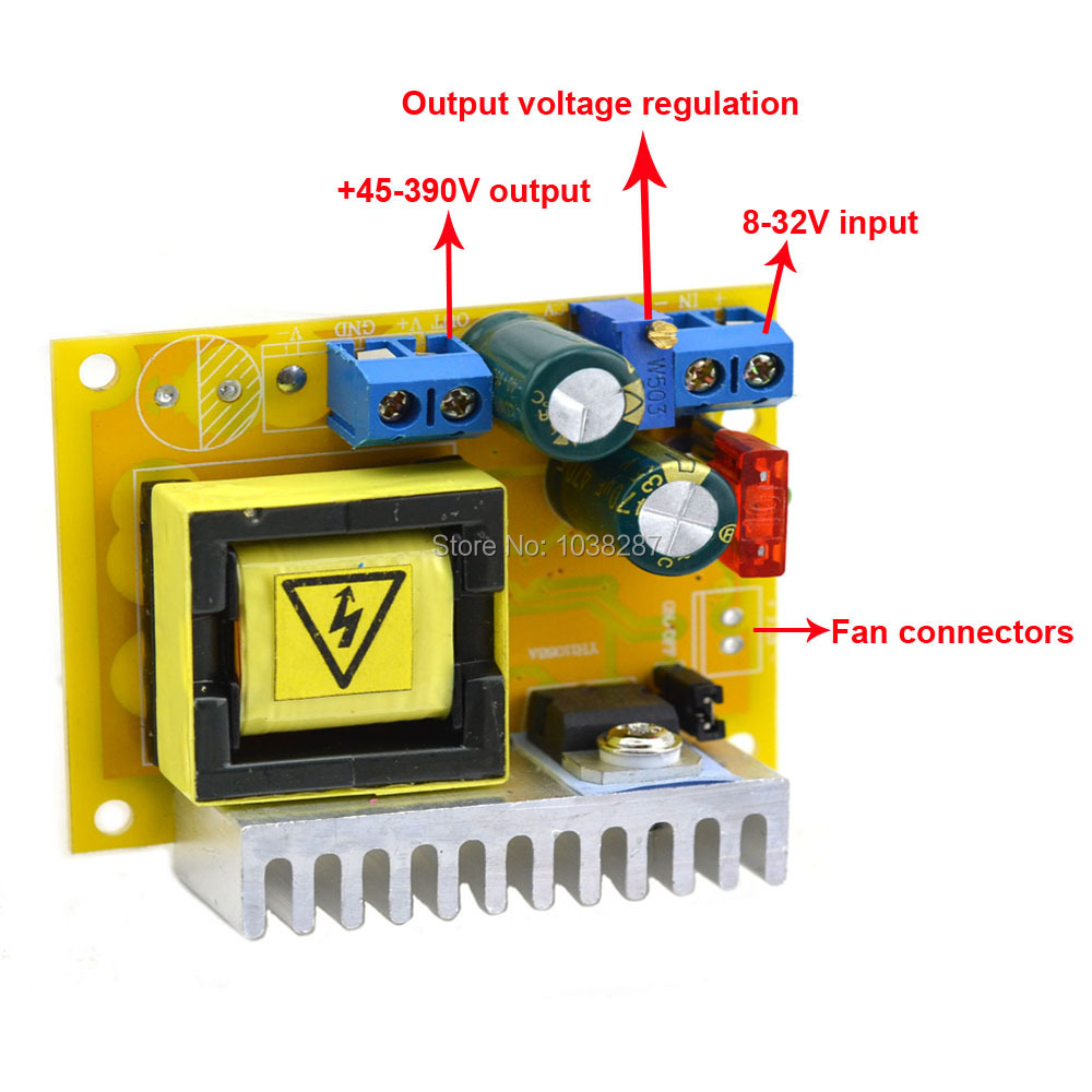 Jtron DC-DC +45-390V Single Boost Buck Converter constant current adjustable output voltage power supply module(China (Mainland))