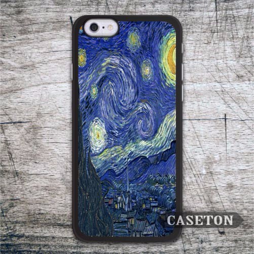 Starry Night Van Gogh Case For iPhone 7 6 6s Plus 5 5s SE 5c 4 4s and For iPod 5 Vintage Oil Painting Phone Cover