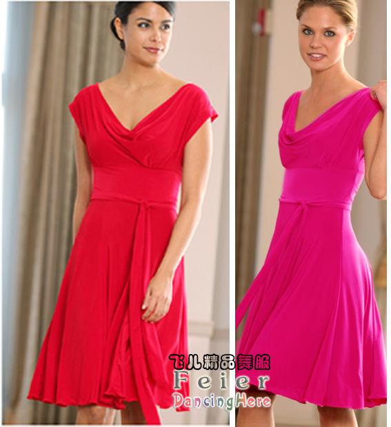 2014 women/lady's Latin dance performance wear skirt adult s8089 one-piece dress - Dance Online store