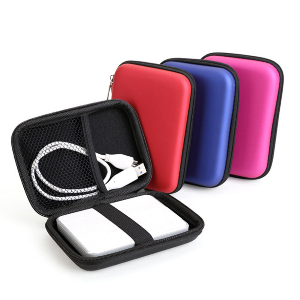 """2.5"""" External USB Hard Drive Disk Carry Mini Usb Cable Case Cover Pouch Earphone Bag for PC Laptop(China (Mainland))"""