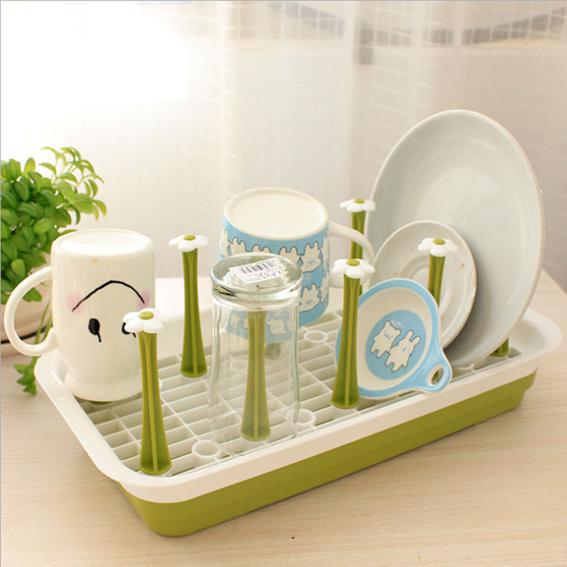 Hot Sale Storage Shelves Creative Household Plastic Water Cup Holder A Shelf For Kitchen Organizer Cup Storage Holders Racks(China (Mainland))