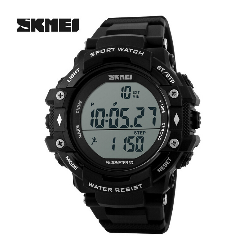 skmei watches pedometer 3d led digital