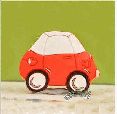 Гаджет  The Most Cheap Small Car Soft Rubber Cartoon Drawer Wardrobe Cabinet Cupboard Kids Room Door Handles Knob None Мебель