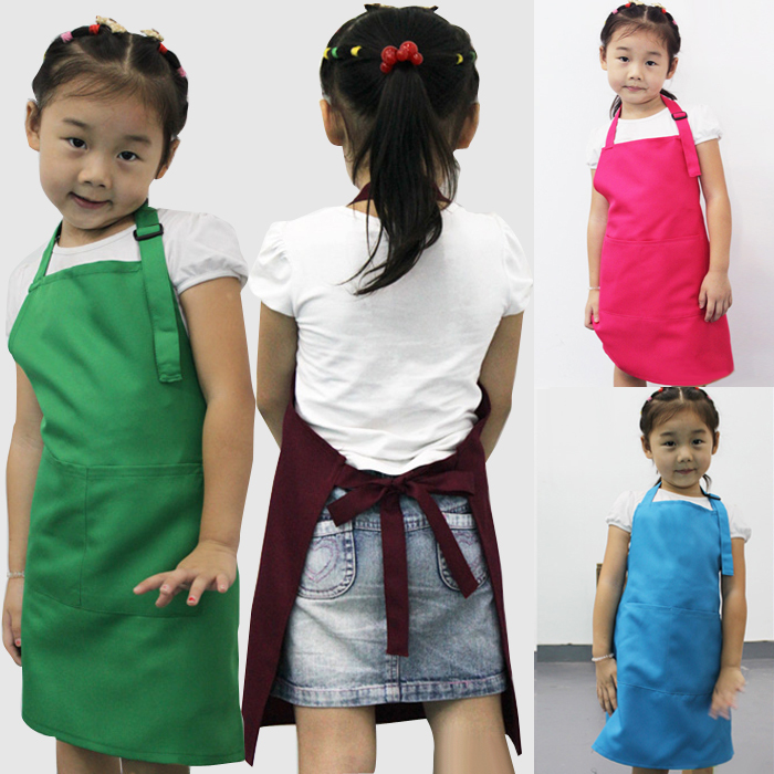 Little Chef Cute Kids Child Children Cooking Baking Tools Kitchen Dining Apron 7 COLORs Aprons # A3570(China (Mainland))