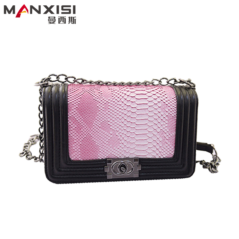 Snakeskin Women Tote Bag Pink Crossbody Bag Designer Handbag High Quality Leather Genuine Chain Shoulder Bag Bolsa Feminina<br><br>Aliexpress