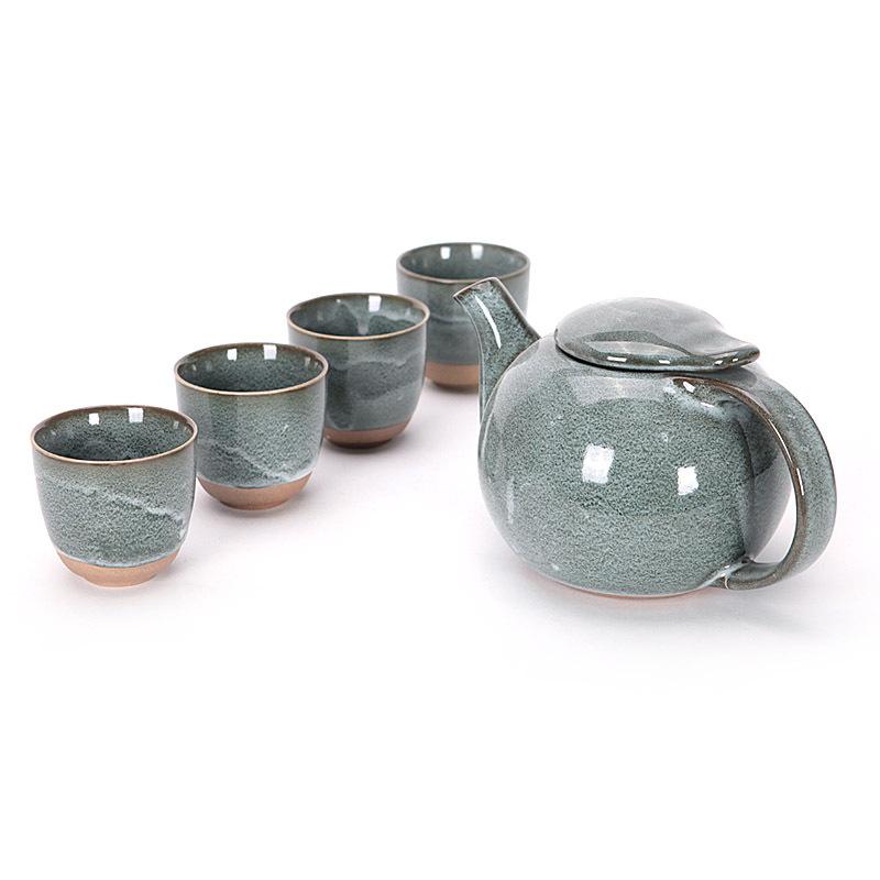 Japanese Traditional Pot Clouds Shape Mouth Pottery Porcelain Ceramics Teapot China Gongfu Tea Art Coffee Cup Set Tea Set(China (Mainland))