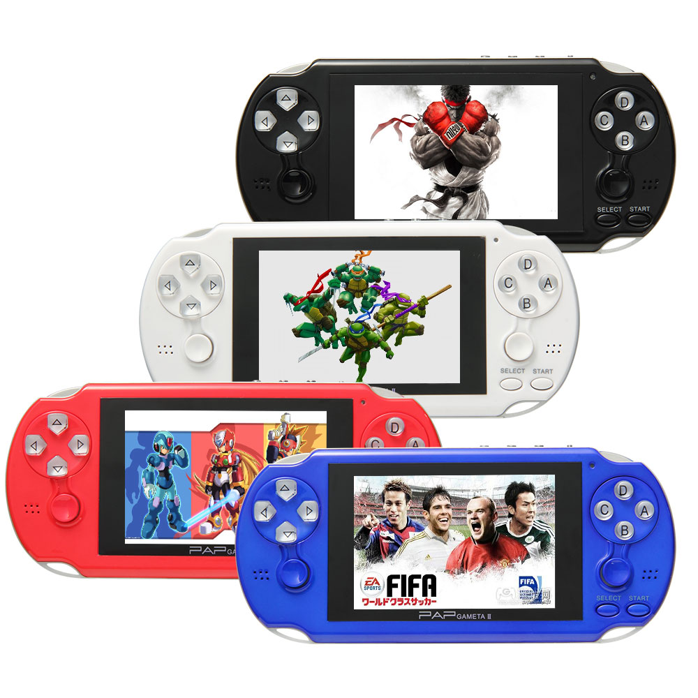 64 Bit 4.1 Inch Handheld Game Player Game Console 4G MP5 Game Player 200 Kinds portable consoles Multimedia classic Games(China (Mainland))