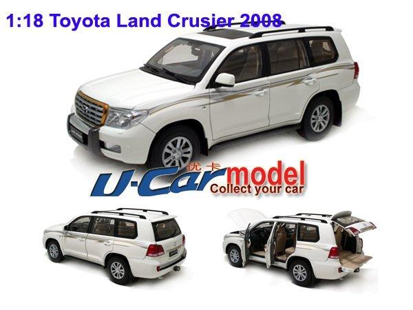 1 pcs /a lot 1:18  Toyota Land Crusier 200 2012  Car Model  Die-cast White color
