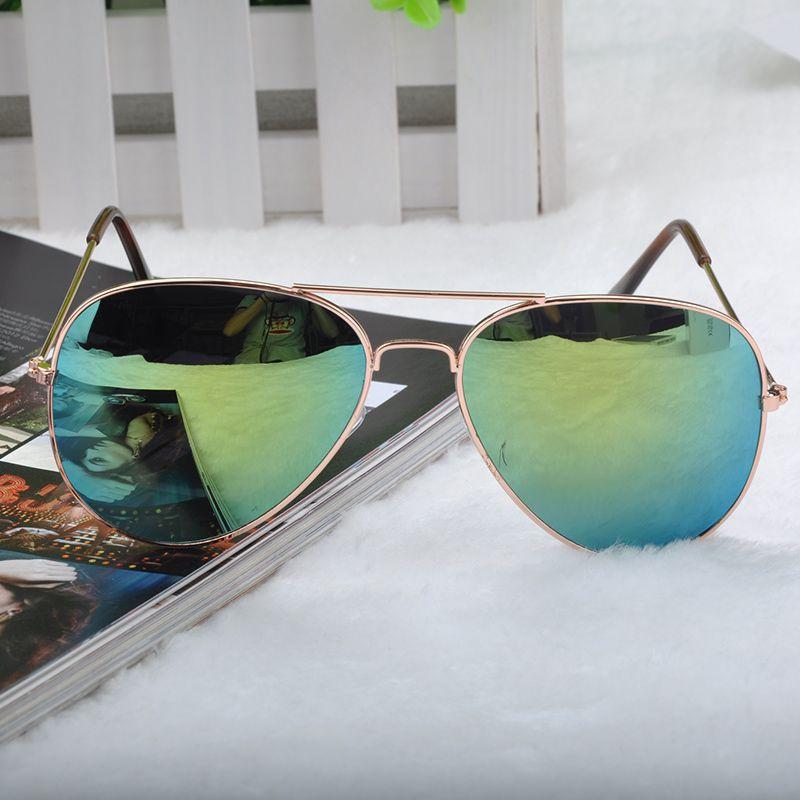 14 Color Sun Glasses Metal Frame Eyewear Glasses Bat Mirror UV Summer Style Sunglasses Women Men Resin Sunglass *41(China (Mainland))