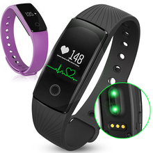 Id107 id 107 monitor de freqüência cardíaca inteligente pulseira black/orange/verde/azul/roxo armband step counter banda pk i5 mais tw64(China (Mainland))