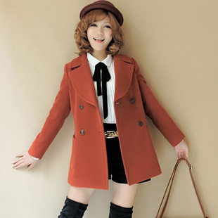 Autumn Winter 2013 new fashion Dust coat Hot sale women's slim double-breasted trench coat wind long outwear turn-down collar от Aliexpress INT