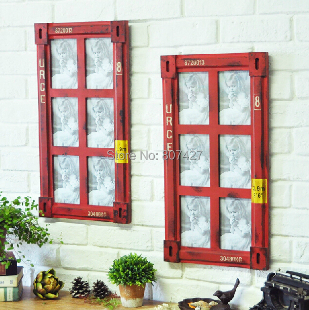 Online get cheap industrial style picture frames for Decoration murale industrielle