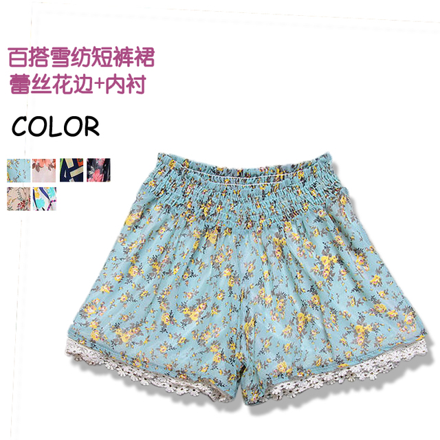 NEW ARRIVAL 2013 summer women's nf0320 sweet small lace decoration short skorts  FREESHIPPING