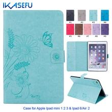IKASEFU Brand Colored Solid Fashion PU Leather Cover for iPad mini 1 2 3 & ipad 6/Air 2 with Magnetic Closure Wallet Stand Case(China (Mainland))
