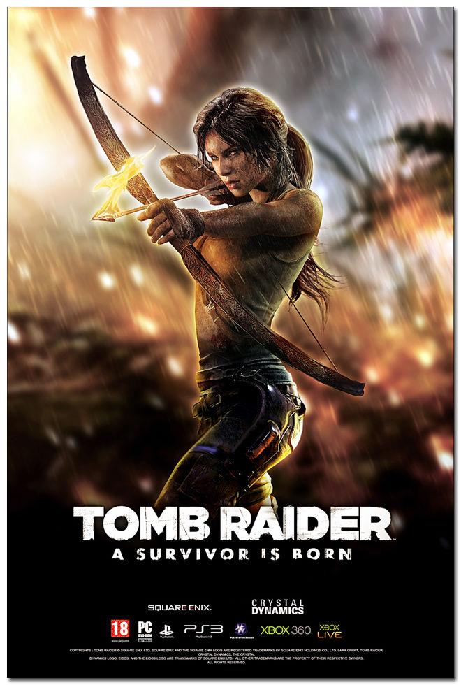 Tomb Raider Lara Croft Game Art Silk Poster 24x36inch Tourniquet Render 08(China (Mainland))