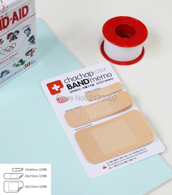 Cute Band Aid Memo Pad Post it stickers Sticky Notes Paper Notepad Kawaii Office Stationery(China (Mainland))