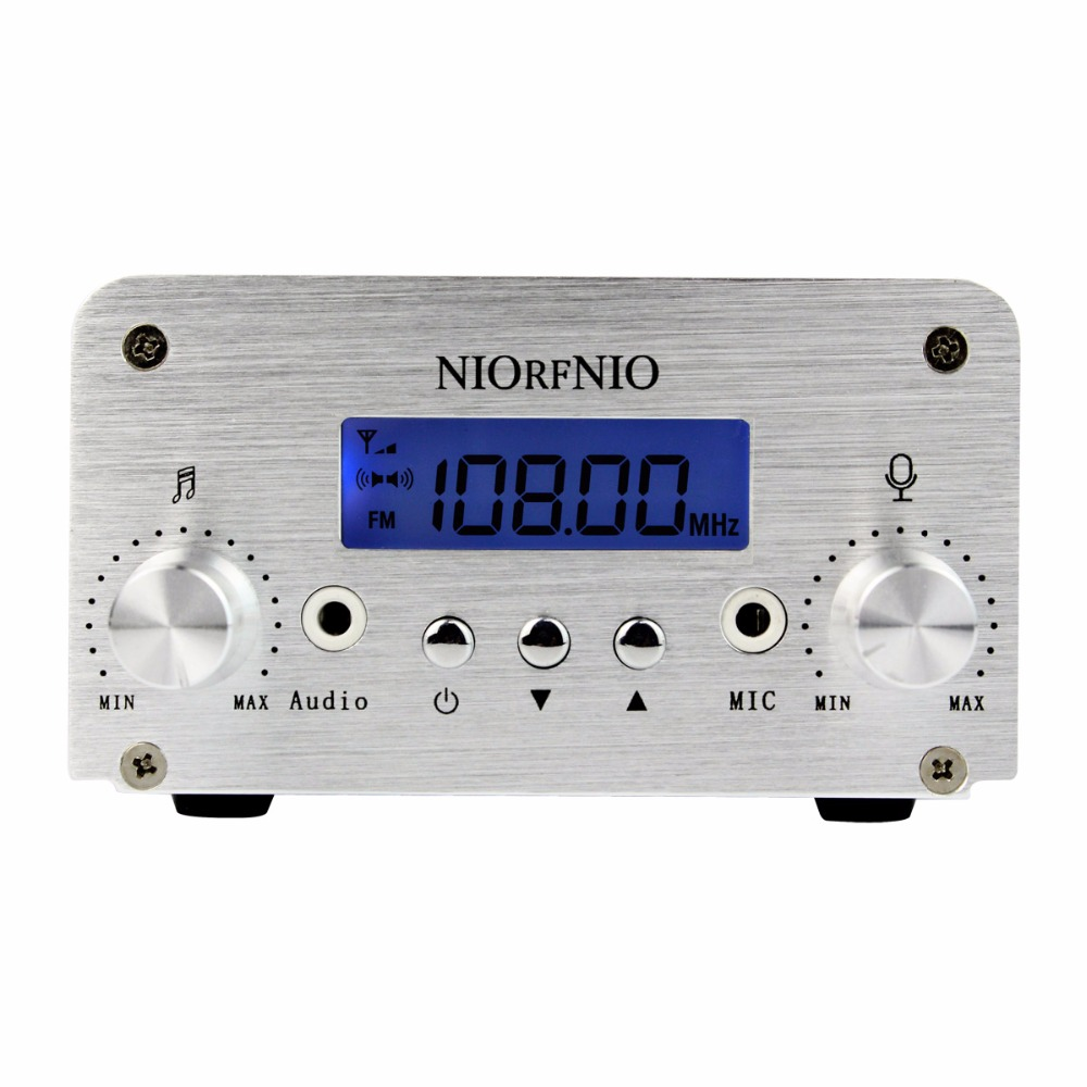 NIORFNIO 1W / 6W PLL FM Transmitter Mini Radio Stereo Station Broadcast with LCD Display Only Host for FM Radio Y4339D(China (Mainland))