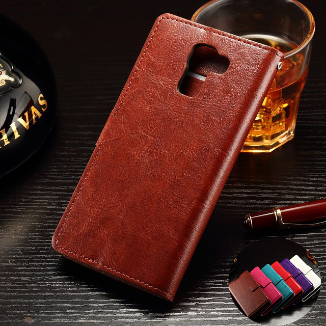 10 pcs/lot Vintage Photo Frame PU Leather Case for Huawei Honor 7 With Wallet Stand Card Phone Bag Flip Cover
