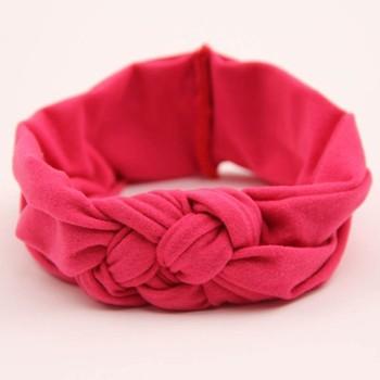 1 шт. 7 цвета малыш мягкие девушка дети Hairband тюрбан трикотажные узел повязка ...