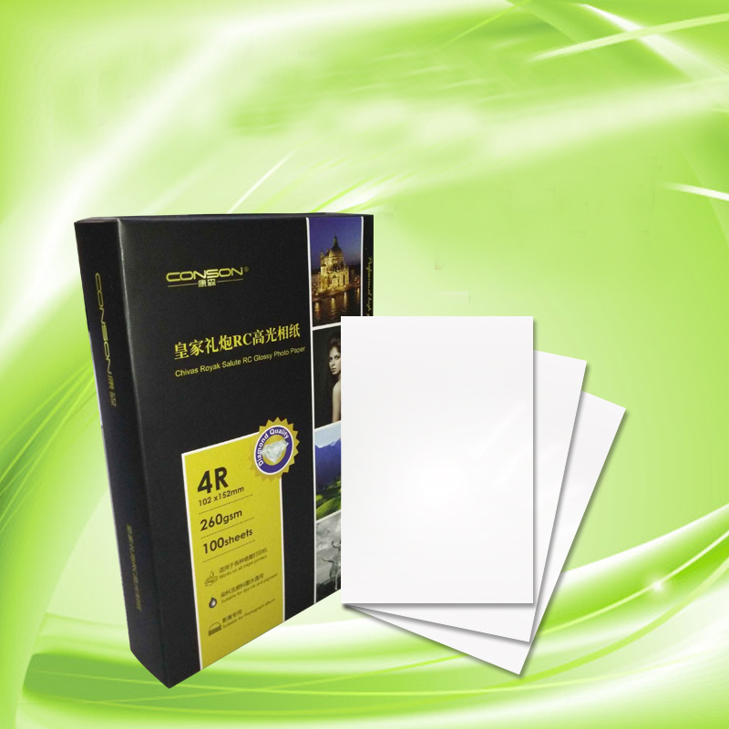 New Double highlights glossy Mettallic Photo paper A4 5 6 7 inch photographic paper Inkjet printing Office School Supplies Paper(China (Mainland))