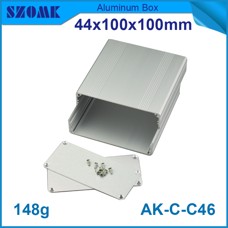 1 piece aluminium control enclosure 44(H)x100(W)x100(L) mm silvery easy use aluminium juction box cheap in 10 and good quality<br><br>Aliexpress