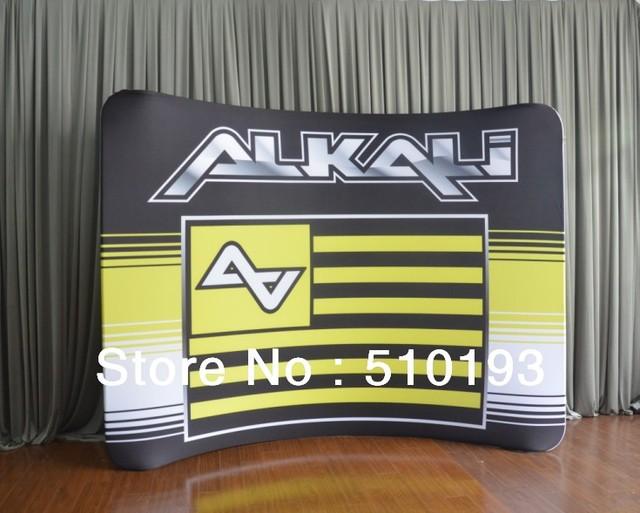 10ft Fabric Display & Case to Podium & LED lights