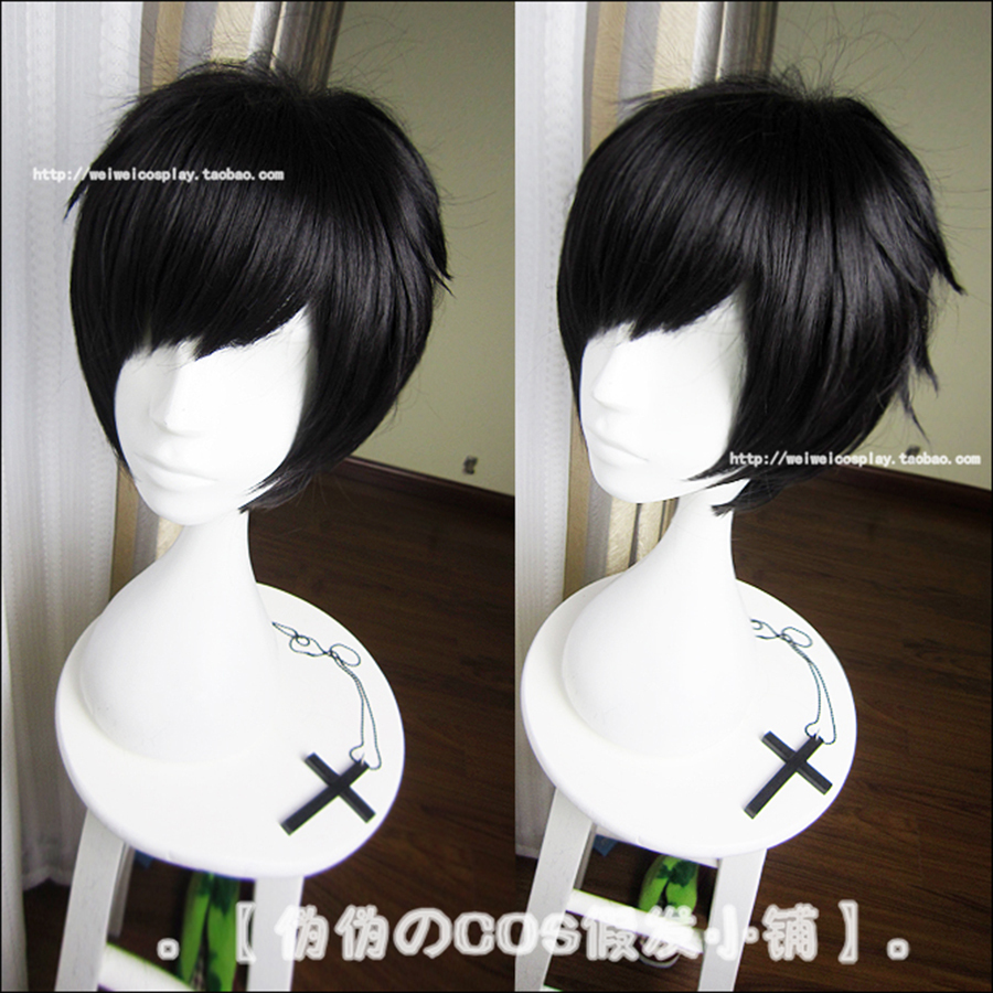Anime DuRaRaRa Cosplay Wig Heat Resistant Hair Full Short Black Straight Synthetic Fashion - Hangzhou Angelababy KIDS Clothing Co.,Ttd store